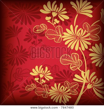 Asia Floral Background