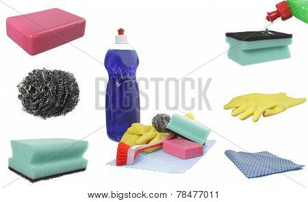 Cleaning Product Collage