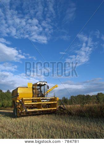 Harvester-thresher rests