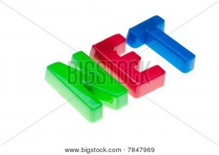 Plastic Toy Magnetic Letters Spelling Net - Online Education