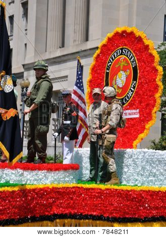 Desfile del día de Memorial en Washington, DC.