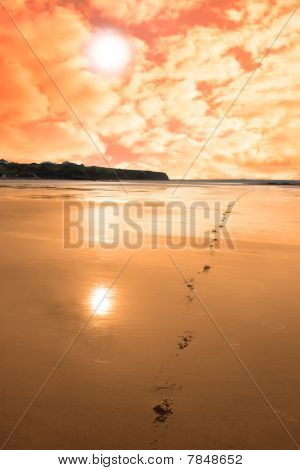 Ballybunion Scenic Red Sunrise