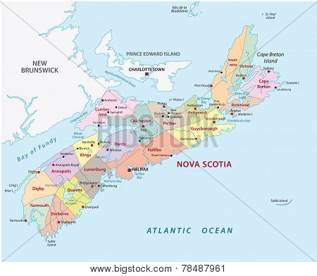 Nova Scotia Administrative Map