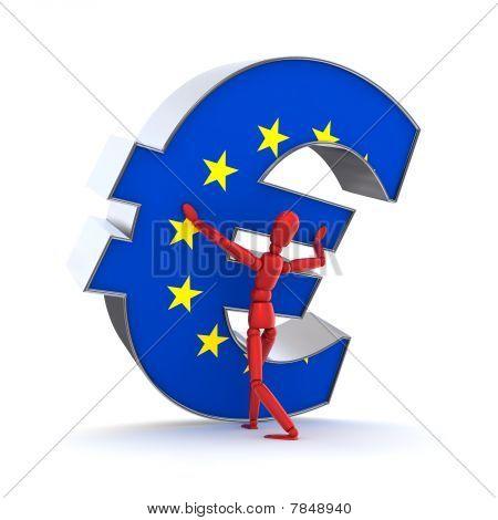 Mantendo-se o Euro - a bandeira da União Europeia