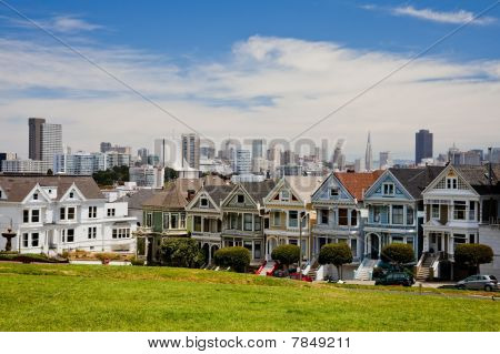 Alamo Square and Postcard Row