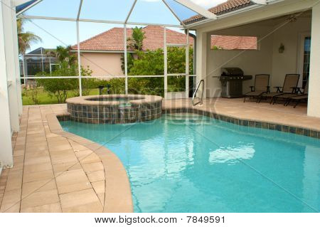 Swimming Pool And Sitting Area