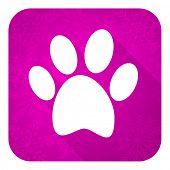 image of flat-foot  - foot violet flat icon - JPG