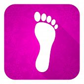 image of flat-foot  - foot violet flat icon - JPG