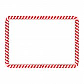 foto of candy cane border  - Frame made of candy cane - JPG