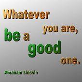 stock photo of abraham  - 3D metallic quote in Gold and green by Abraham Lincoln - JPG