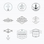 stock photo of shipbuilding  - Set tags with ribbons and labels - JPG