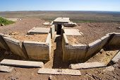 picture of golan-heights  - Remains of the yom kippur war on hill  - JPG