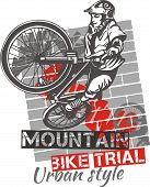 Постер, плакат: Mountain bike trial vector design