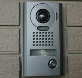 picture of front-entry  - House intercom mounted at the front door and there are buttons for talk - JPG