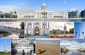 pic of ireland  - Collage of different landmarks in Dublin Ireland - JPG
