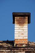 pic of chimney  - Repaired an old chimney on the roof of the old - JPG