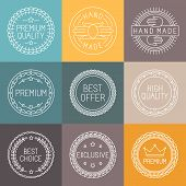 foto of high-quality  - Vector set of premium labels and badges in line style  - JPG