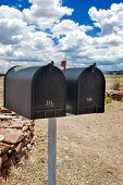 picture of postbox  - Row of Old Postboxes in Arizona State USA - JPG