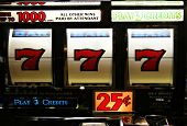 picture of slot-machine  - three sevens in a Poker Machine Jackpot - JPG