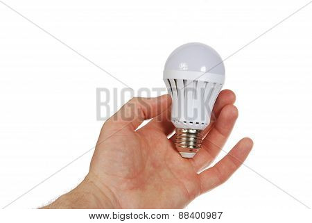 Led Lamp In Hand