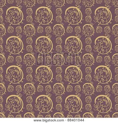 Hand Drawn Floral Seamless Pattern