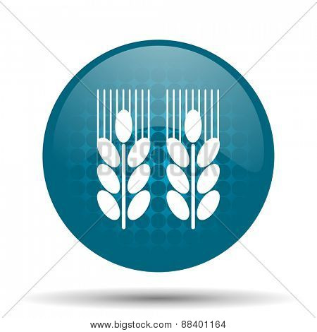 agricultural blue glossy web icon