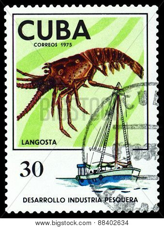 Vintage  Postage Stamp. Lobster.