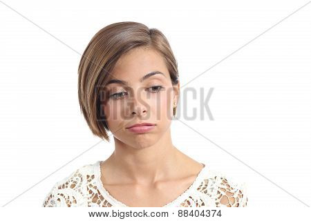 Portrait Of A Woman With Bored Expression