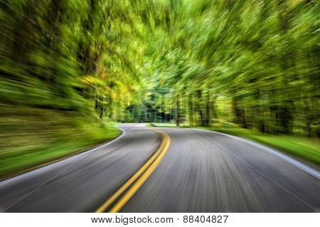 Speeding Through The Mountains