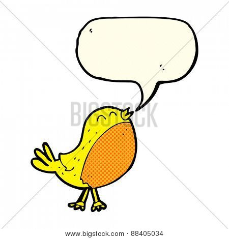 cartoon singing bird