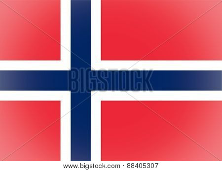 Flag Of Norway Vignetted