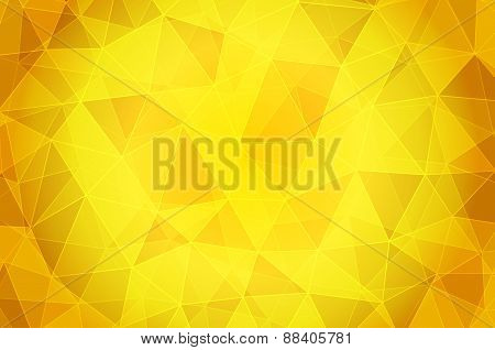 Orange and yellow abstract texture with triangles.