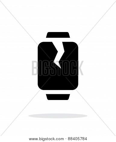 Broken smart watches simple icon on white background.