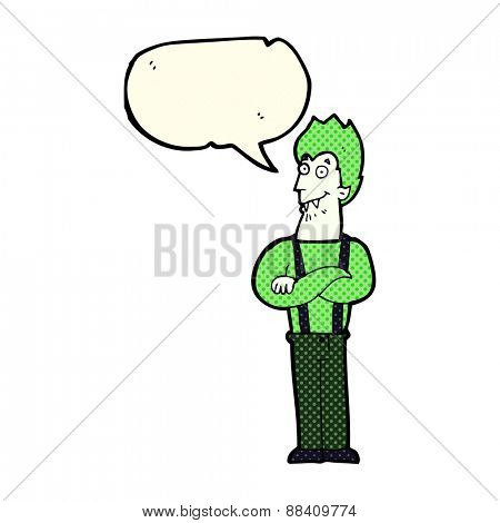 cartoon rotten tooth character with speech bubble