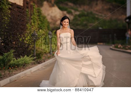 Young Bride Outside