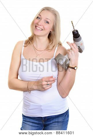 Blondy Happy Women  With Drill.
