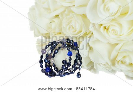 Beautiful White Roses  With  Bracelet