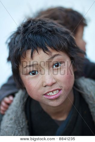 Portrait Of Two Tibetan Boys