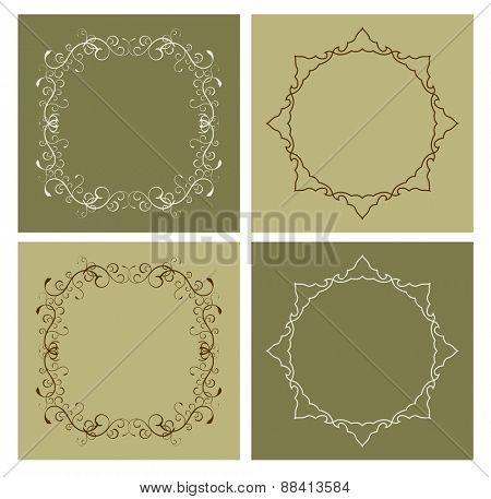 floral vintage frame border design