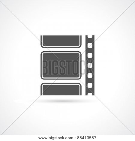 film strip reel icon background