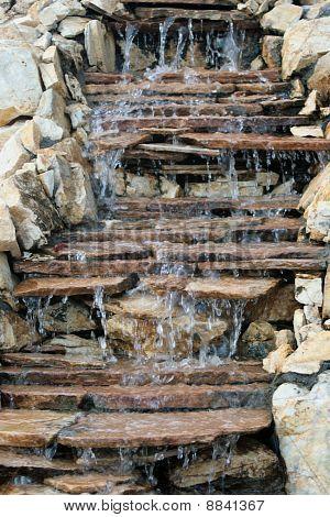 Beautiful multi-layered waterfall
