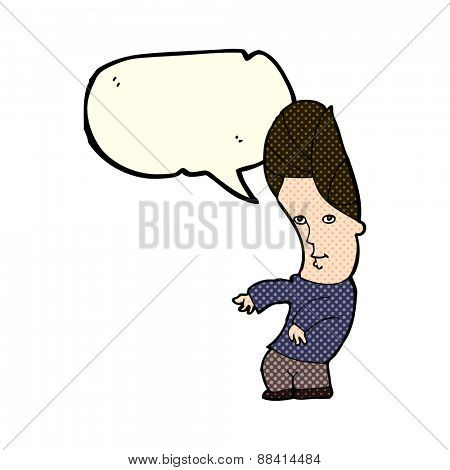 cartoon man with no worries with speech bubble