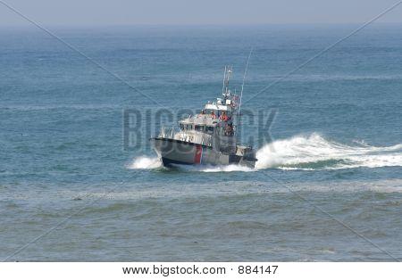 Us Coast Guard Boat In Rescue Mission