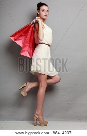 Woman Shopping Time.