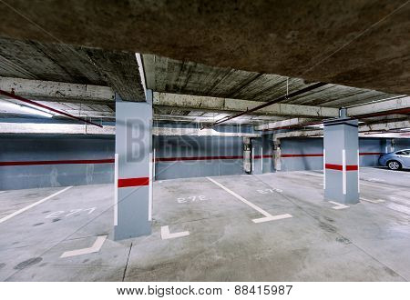 Empty Underground Car Park