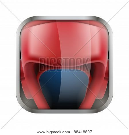 Square icon for boxing app or games
