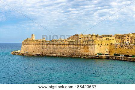 View Of Fort Saint Elmo In Valletta - Malta