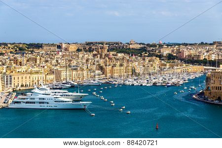 View Of The Marina In Valletta - Malta