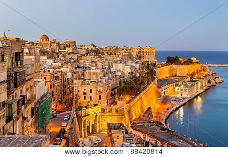 View Of Valletta In The Evening - Malta