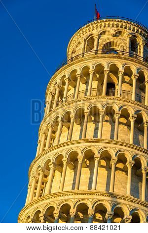 Details Of The Leaning Tower Of Pisa - Italy